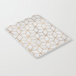Marbled Copper Cubes Notebook