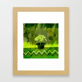 Abstract St Patrick day clover in a hat Framed Art Print