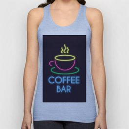 Coffee Bar Neon Unisex Tank Top