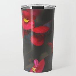 Crimson Begonia Travel Mug