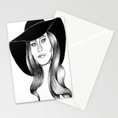 belle fille d'or Stationery Cards
