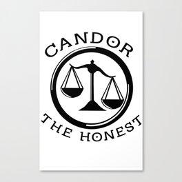 Divergent - Candor The Honest Canvas Print
