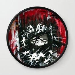 Deborah Harry Eyes Wall Clock