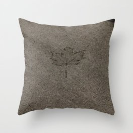 Cemented leaf Throw Pillow