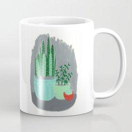 House Plants jade plant cactus snake plant Coffee Mug