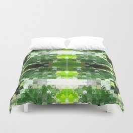 Bright Green tiles Duvet Cover