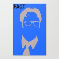 dwight schrute Canvas Prints featuring Dwight Schrute by Stacia Elizabeth