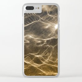 golden reflection 0341 undewater sand Clear iPhone Case