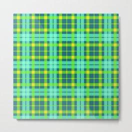 Yellow and green Tartan (Scotch) Pattern Metal Print