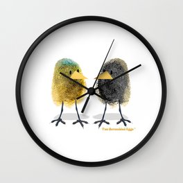 Two Scrambled Eggs - Different Wall Clock