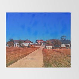 Peaceful countryside village scenery | landscape photography Throw Blanket