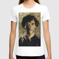 cumberbatch T-shirts featuring Cumberbatch as Sherlock Holmes by André Joseph Martin