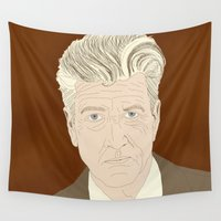 lynch Wall Tapestries featuring LYNCH by Itxaso Beistegui Illustrations