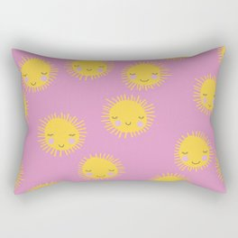 Little sunny sunshine love summer sky girls pink Rectangular Pillow
