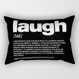 Def. LAUGH w/b Rectangular Pillow