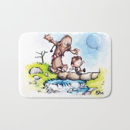 Calvin Solo and Hobbes-bacca Bath Mat