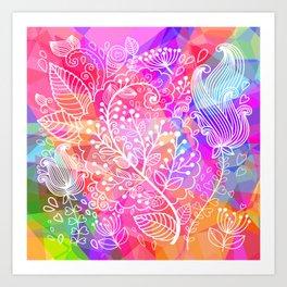 Floral Poly Art Print