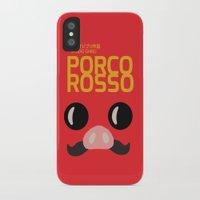 hayao miyazaki iPhone & iPod Cases featuring Porco Rosso - Miyazaki - Alternative Cartoon Poster by Stefanoreves