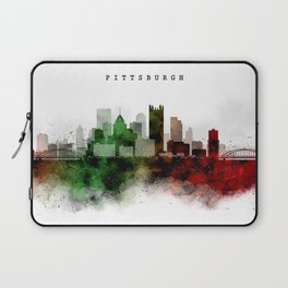 Pittsburgh Watercolor Skyline Laptop Sleeve