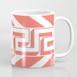 GEOMETRIC PATTERN IN LIVING CORAL Coffee Mug
