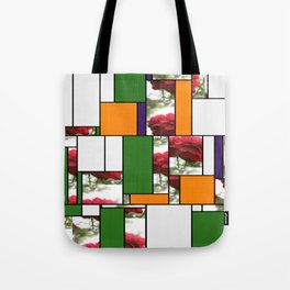 Red Rose with Light 1 Art Rectangles 5 Tote Bag