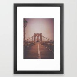 Brooklyn Bridge Stroll Framed Art Print