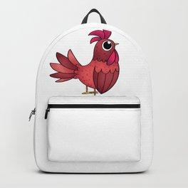 Red Chicken Hen Backpack