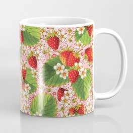Pink Paisley Strawberries Coffee Mug