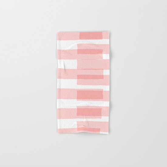 Big Stripes in Pink Hand & Bath Towel