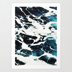 Dark Ocean Waves Art Print