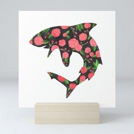 Floral Shark Mini Art Print