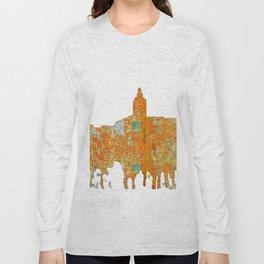 Annapolis, Maryland Skyline SG - Rust Long Sleeve T-shirt