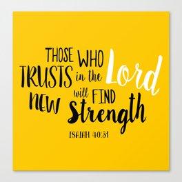 Isaiah 40:30 Canvas Print