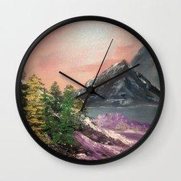 Pink amongst the gray Wall Clock