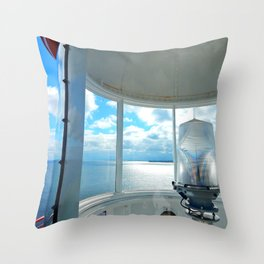 Souris Lighthouse View from the Top Throw Pillow