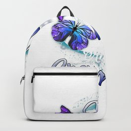Butterfly I Have Two Titles Mom And Grammy Funny Grammy Gift T-Shirt Backpack
