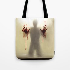Beware to the shower....you are not alone! Tote Bag