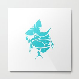 Turquoise Ganesha Metal Print