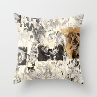 chaos Throw Pillows featuring CHAOS by Petra Erika Nordlund