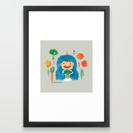 Broccoli Veggie Monster Framed Art Print