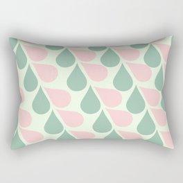 Pink and Teal Tears Rectangular Pillow
