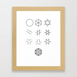 The Story of Geometry Framed Art Print