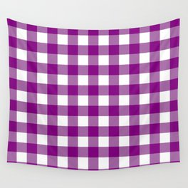 Gingham (Purple/White) Wall Tapestry