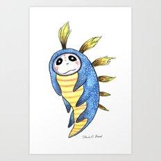 Blue Impworm Art Print