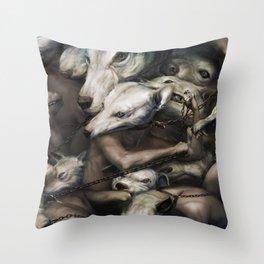 Uninterrupted chain Throw Pillow