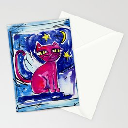 Angel Kitty by Kathy Morton Stanion Stationery Cards