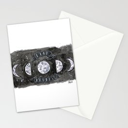 Moon Goddess Watercolor Stationery Cards