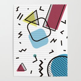 Modernistic abstract shape pattern texture Poster