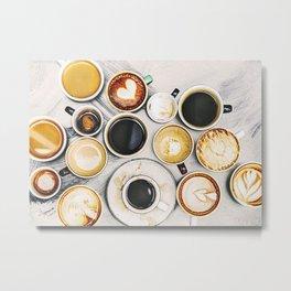 Coffee Cups Photo Metal Print