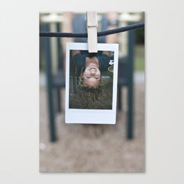 Prime Pitch Polaroids (By: Laura Lindsay) Canvas Print